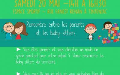 Baby sit'dating samedi 20 mai de 14h à 16h30