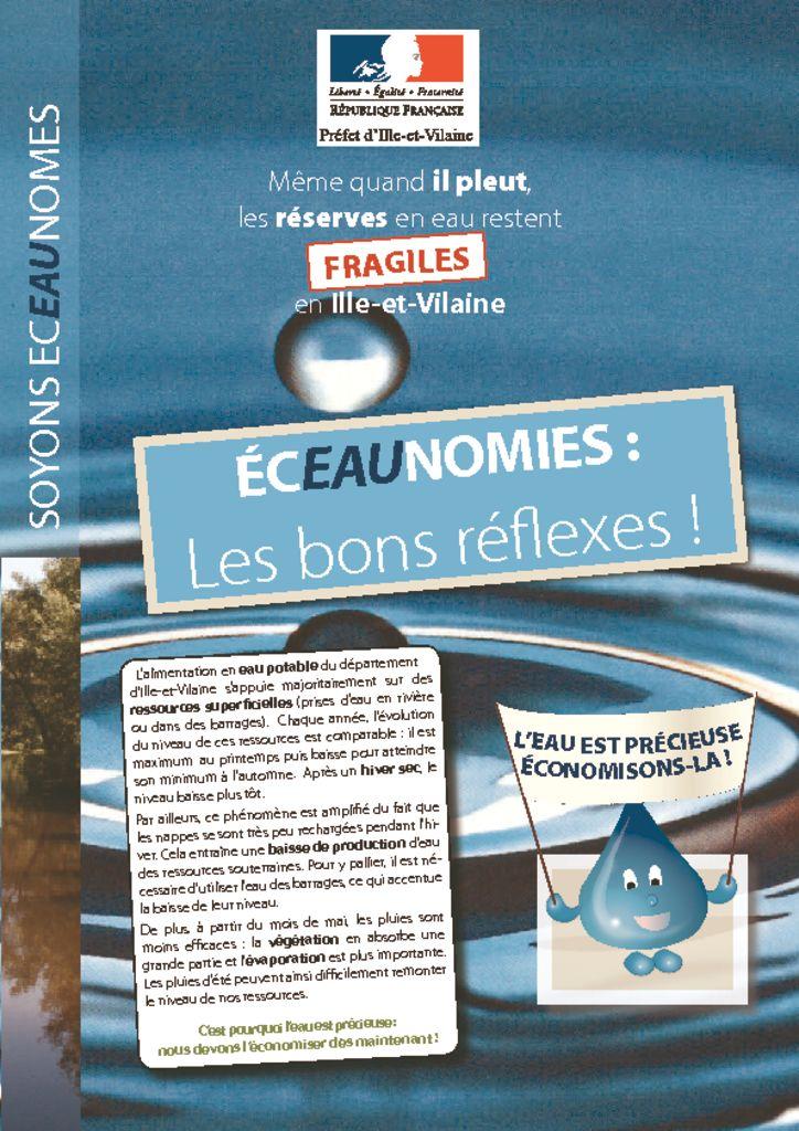 thumbnail of Flyer Sécheresse Juin 2017